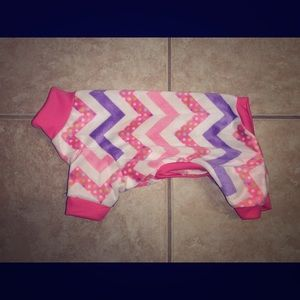 XS Chevron Minky Dog Pajamas